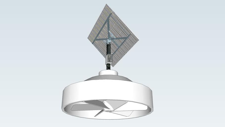 Solar Attic Fan  (with solar tracker system)