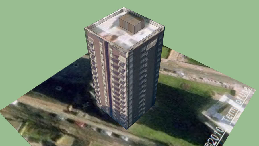 Walworth Tower Block 3 (Part of London3dProject)