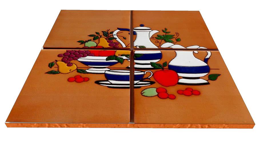Cerâmica Fênix Decorada Cozinha LMCC_1717-13