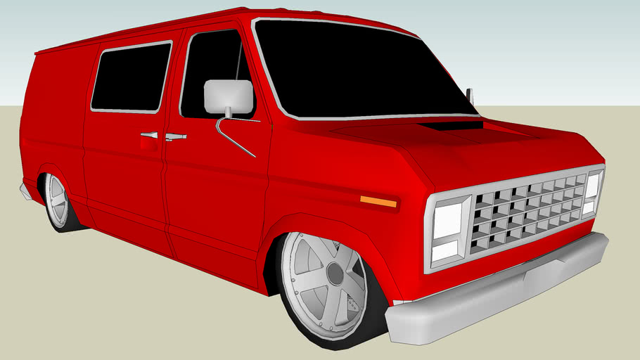 Modified Ford Econoline Cargo Van
