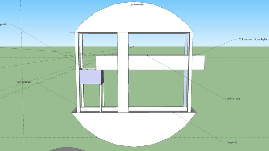 maceta para ventana circular