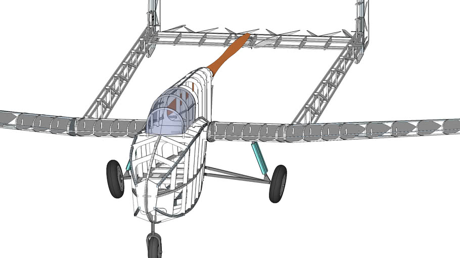Samolot słabo silnikowy Pegaz z 1949 r
