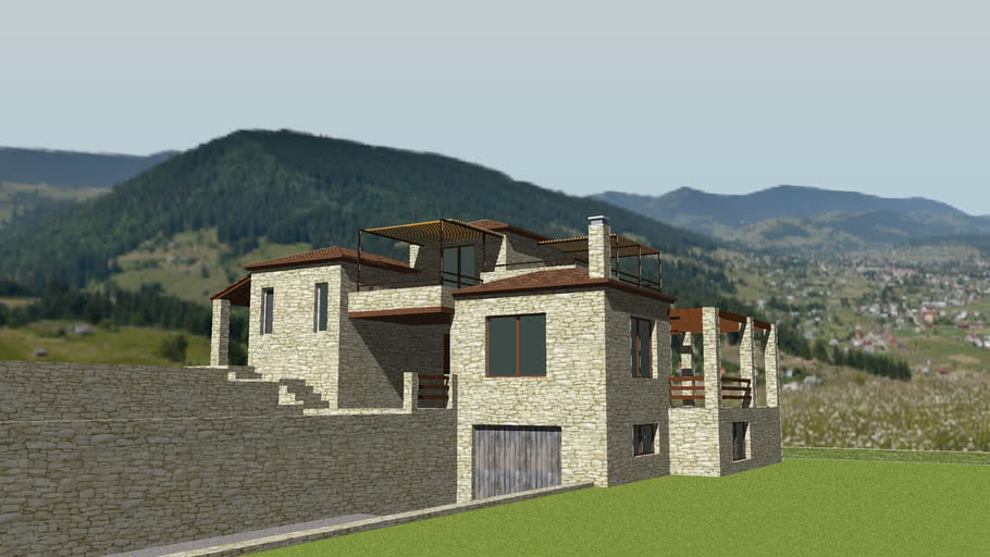 HOUSE+CASA+MAISON+VILLA+STONE+TRADITIONAL