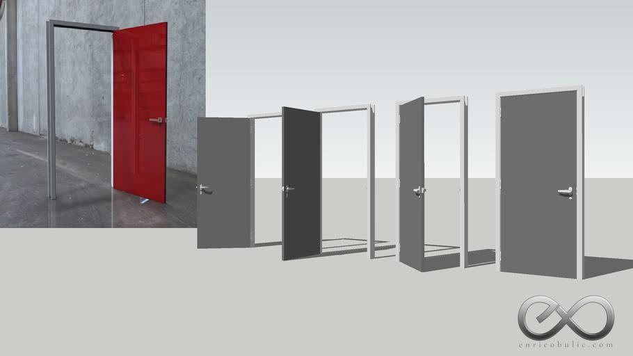 Standard Flush Panel Door - Open & Closed