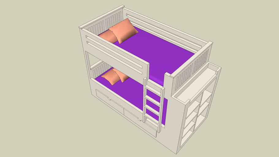 Teen Bunk Bed with Storage