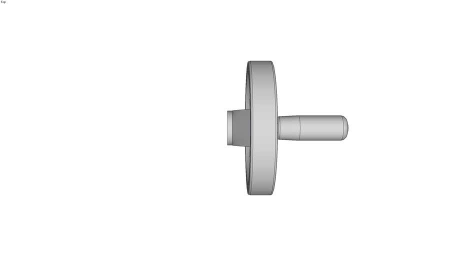 Volant deux bras aluminium � poign�e �clipsable - Moyeu lisse