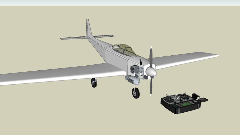 rc plane avion + radio control Futaba + engine