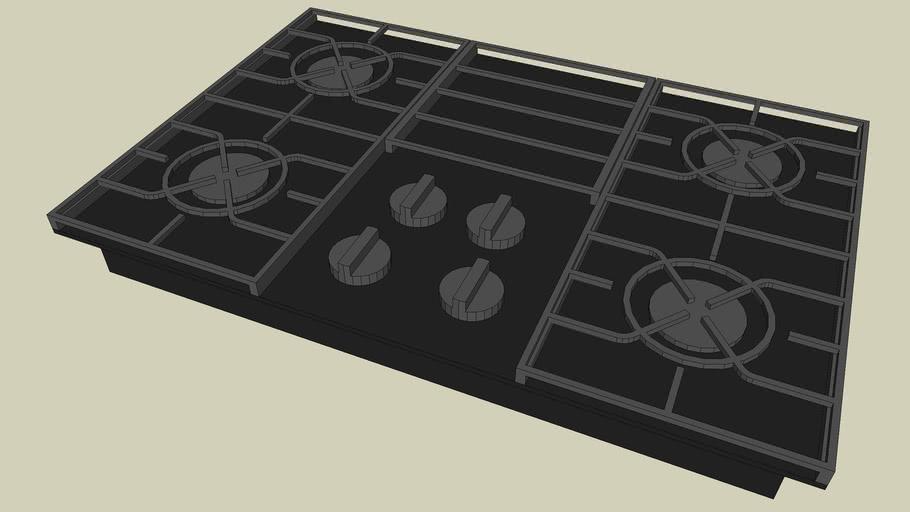 KGCC506R  KitchenAid 4 Burners, Gas-on-Glass Surface