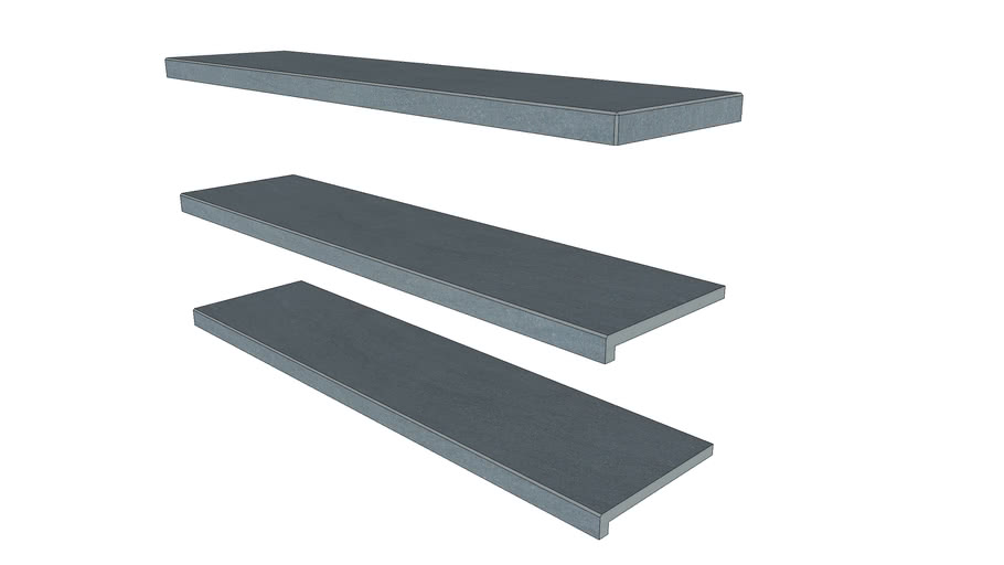 Trendy Black Porcelain Step 1194 x 290 with 40mm Downstand