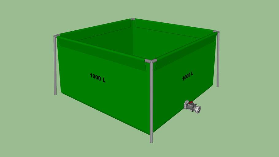 1000L flexible water tank