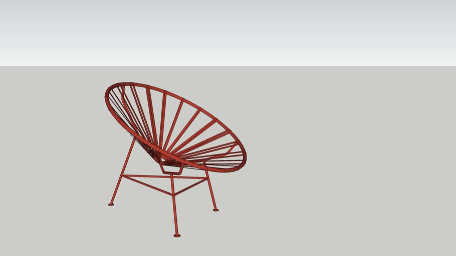Woood rode stoel