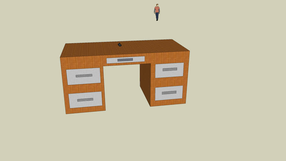 table and chair sketchup clementina ruiz 2
