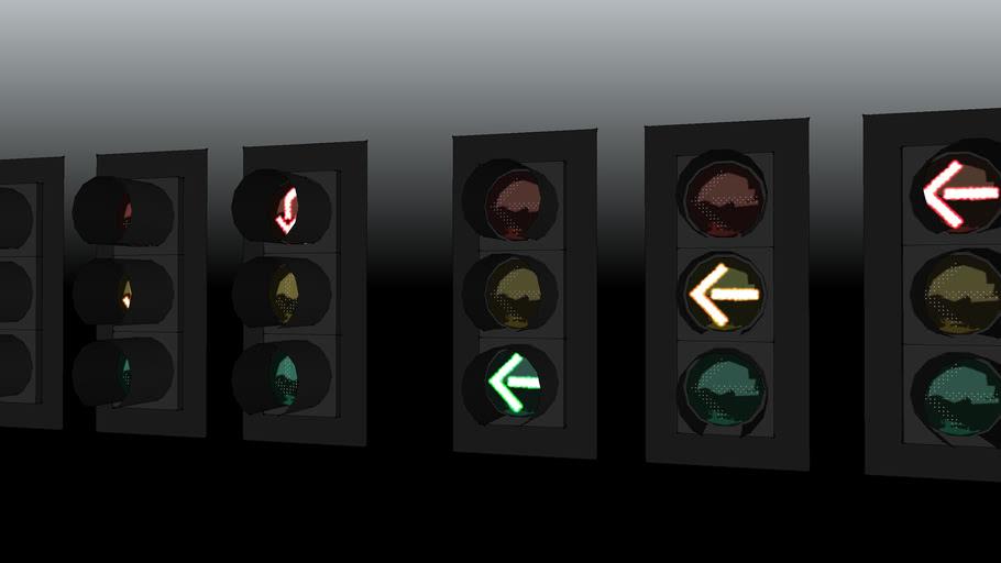 Leotek 12 inch left and u turn traffic signals
