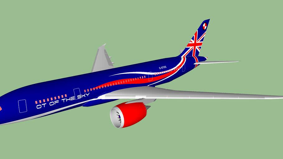"""OT of the Sky (2012 [FICTIONAL]) - Boeing 787-8OT Dreamliner """"Only GB"""""""