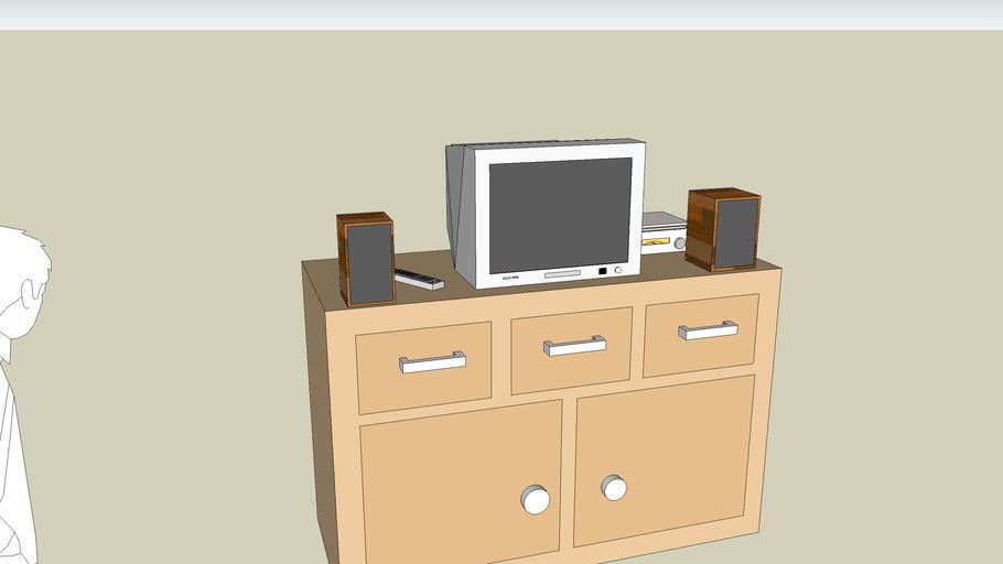 meuble tv +tv