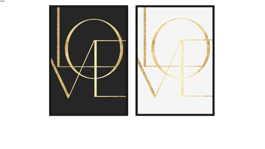 Quadros Love I e Love III
