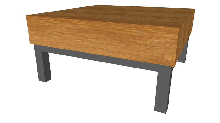 Coffee Table Modern 30inx30in - Detailed