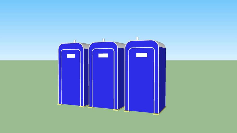 3 porta potties