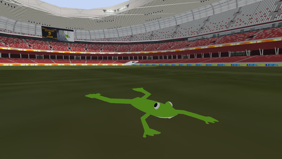 Froggy at the 2008 Beijing Olympic Stadium