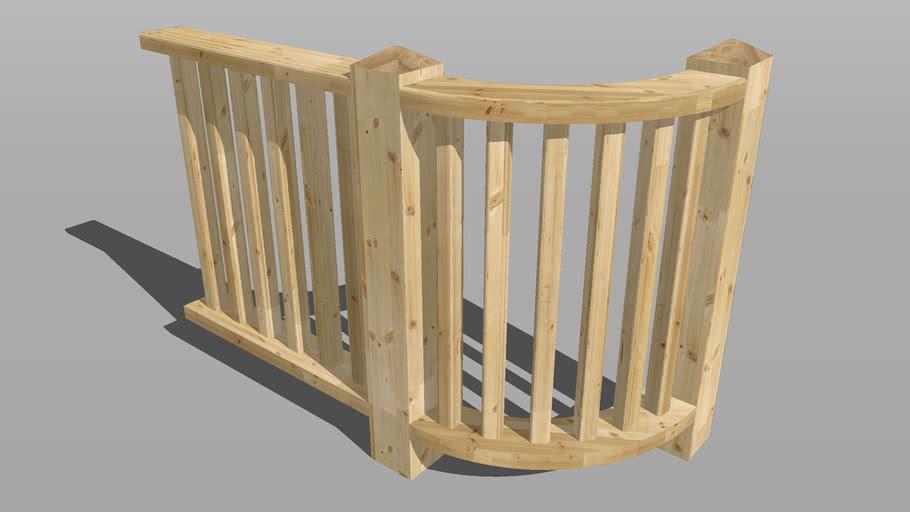Railing corner element