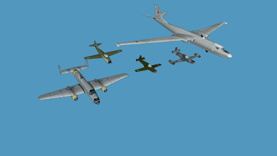 russian jets (low poly)