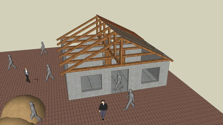 Haus dom w budowie