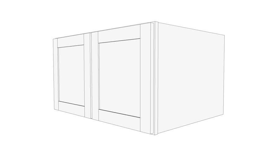 "Bayside Wall Cabinet 24W3318 - 24"" Deep, Two Doors"
