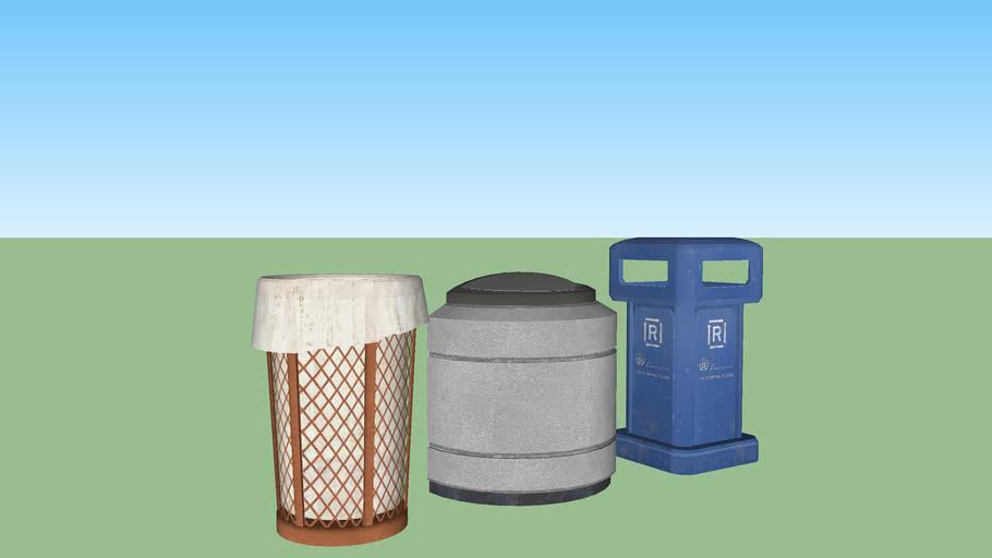 Street bins set 3
