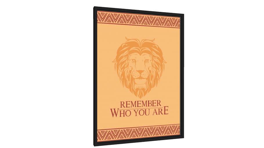 Quadro Remember who you are - Galeria9, por Aqui tem poster