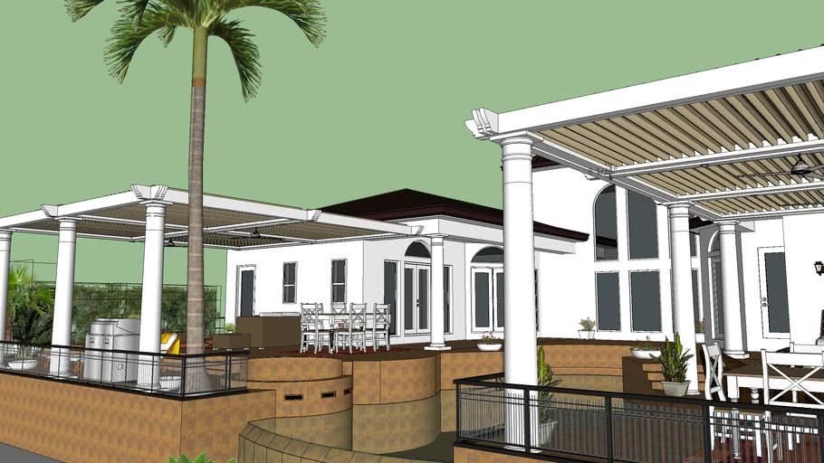 Florida House with Pergola