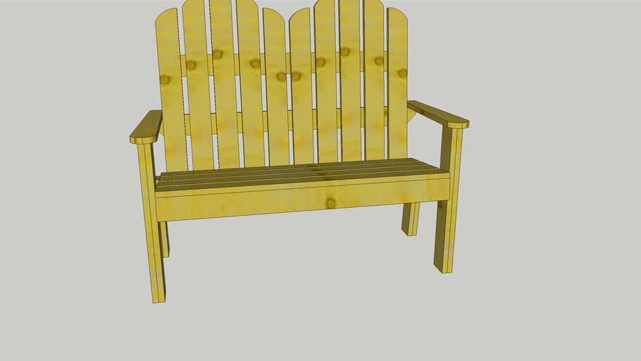 Paddle Pop stick bench seat