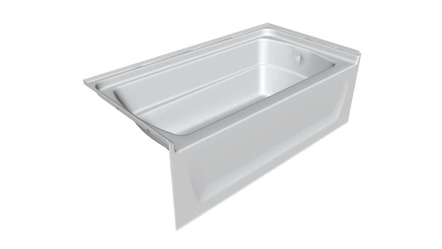 71121110 Ensemble(TM) Series 7112, 60 inch x 32 inch Bath - Left-hand Drain