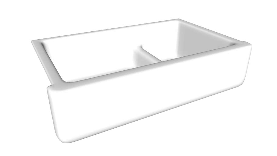 """K-6427 Whitehaven(R) Self-Trimming(R) Smart Divide(R) 35-11/16"""" x 21-9/16"""" x 9-5/8"""" under-mount large/medium double-bowl kitchen sink with tall apron"""