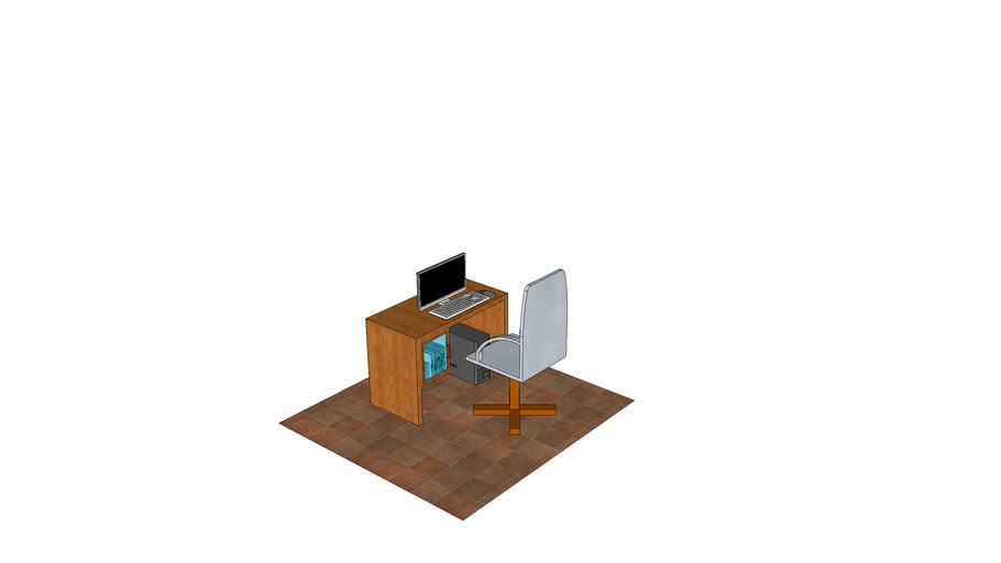 Desktop and chair with colors