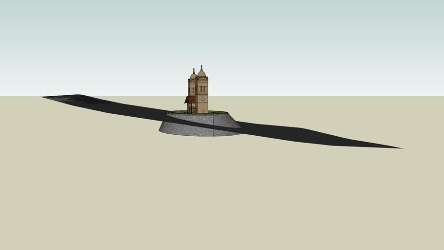 Torres da Igreja da antiga cidade de Itá