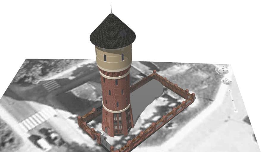 Wieża ciśnień w Morągu przy ulicy Dąbrowskiego