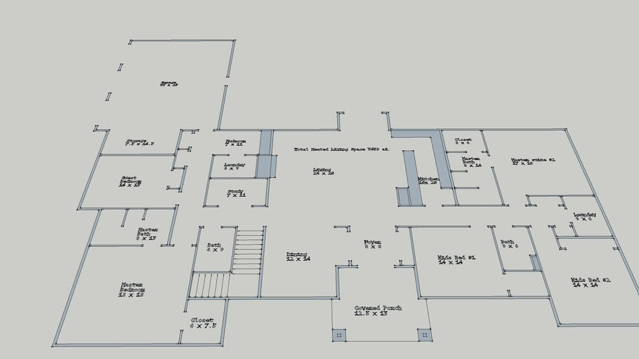 Capron #11 floor plan with tags