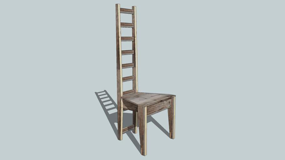 scrapwood ladder chair