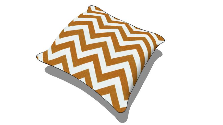 Throw Pillow - Orange ZigZag