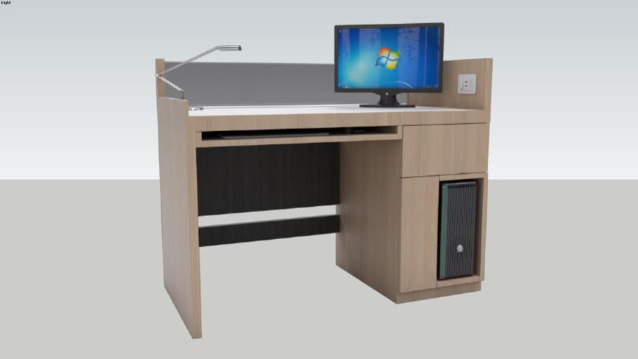 Simple Office Desk   Meja Kantor Sederhana