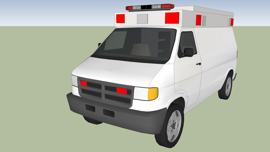 Ambulance Type 2 model 2000 dodge ram van