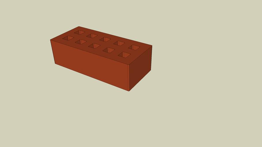Brique rouge 21,5 x 10 x 6,5
