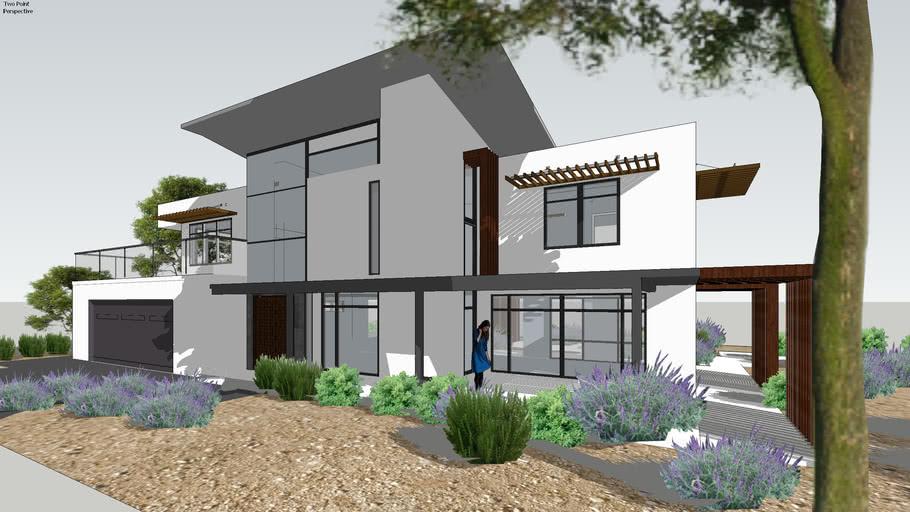modern indian home plan