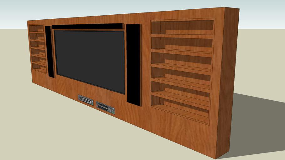 Wood Set Television