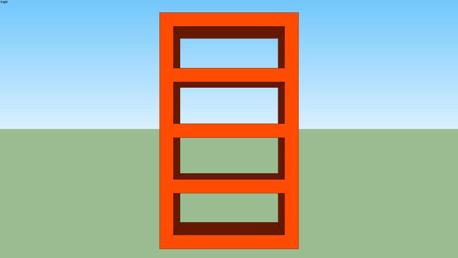 Orange shelf