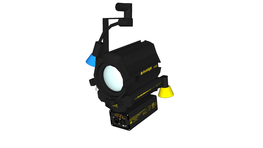 DLH650PO-DMX - Pole operated - Digital multiplex - Tungsten light head