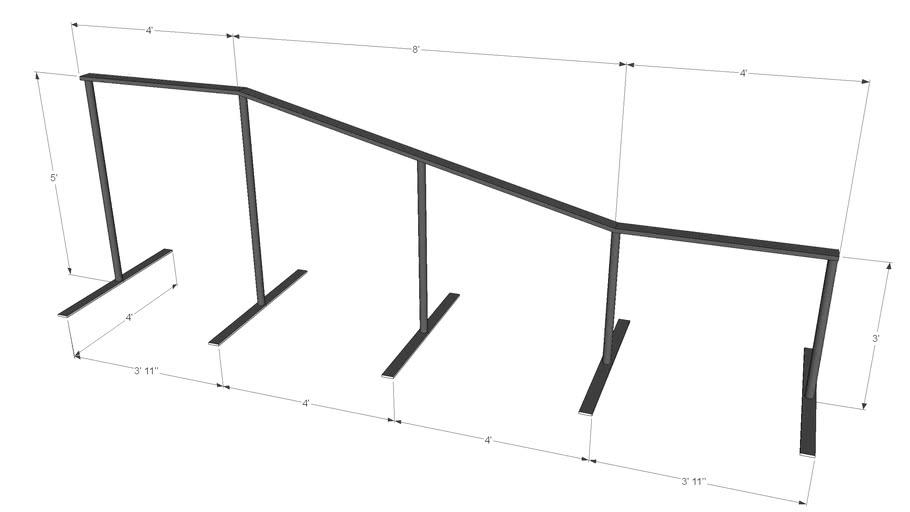 snowboard grind rail