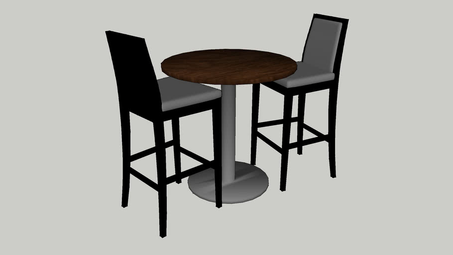 barstool and table