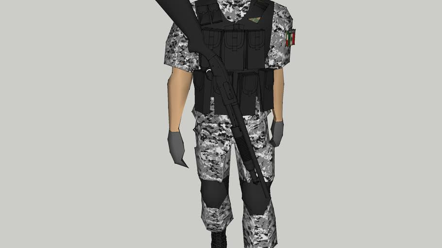 soldado de semar de mexico  policia naval