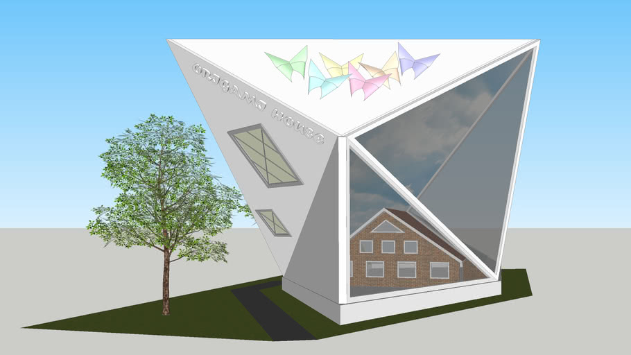 How to make a 3D origami house: page 1 | 512x910